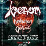 La trilogía del mal en Ecuador: Venom, Destruction y Obituary