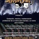 Concurso para bandas y solistas Semifusa 2012